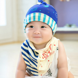 AP192••เซตหมวก+ผ้ากันเปื้อน•• / Big Dream [สีน้ำเงิน]
