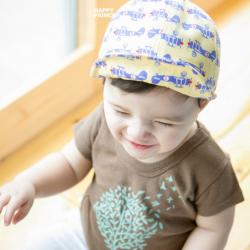 HT373••หมวกเด็ก•• / หมวกแก็ปเครื่องบิน (สีเหลือง)