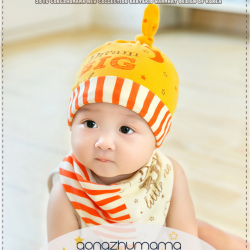 AP189••เซตหมวก+ผ้ากันเปื้อน•• / Big Dream [สีเหลือง]