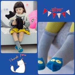 SK097••ถุงเท้าเด็ก•• นกฮูก (ข้อสั้น-เลยตาตุ่ม)