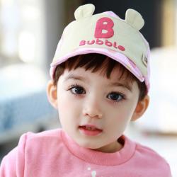 HT367••หมวกเด็ก•• / หมวกแก็ป Bubble (ปีกสีชมพู)