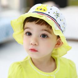 HT487••หมวกเด็ก•• / หมวกปีกกว้าง-Rabbit (สีเหลือง)