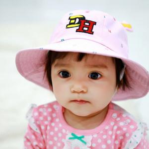 HT486••หมวกเด็ก•• / หมวกปีกกว้าง-DH (สีชมพู)
