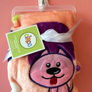 BK081••ผ้าห่มเด็ก•• / ลายสุนัข-1 (นาโน)