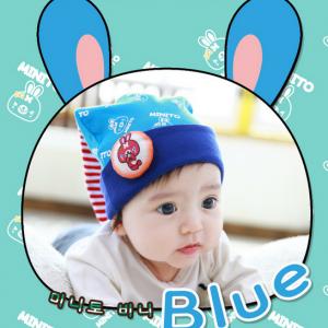 HT185••หมวกเด็ก•• / [สีฟ้า] Minito