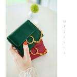 กระเป๋าสตางค์ใบสั้น MAVENUS สีเขียว