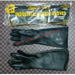 ถุงมือยางดำหนาพิเศษ TIGER TEX ยาว 18นิ้ว