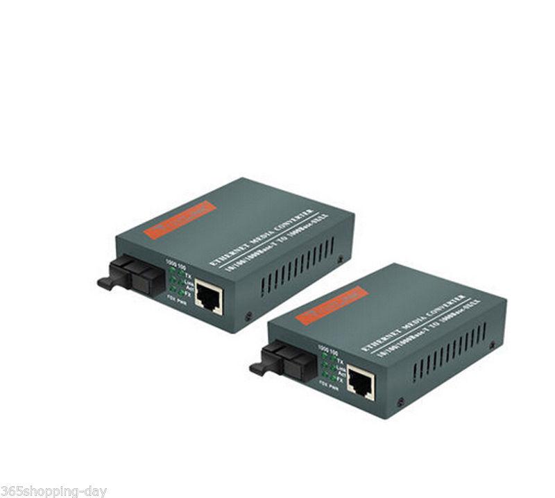 Gigabit Ethernet Media Converter 1000M RJ45 Single Mode SC 20KM