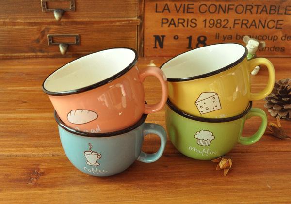 แก้วกาแฟเซรามิค ชุด อาหารเช้า < พร้อมส่ง >