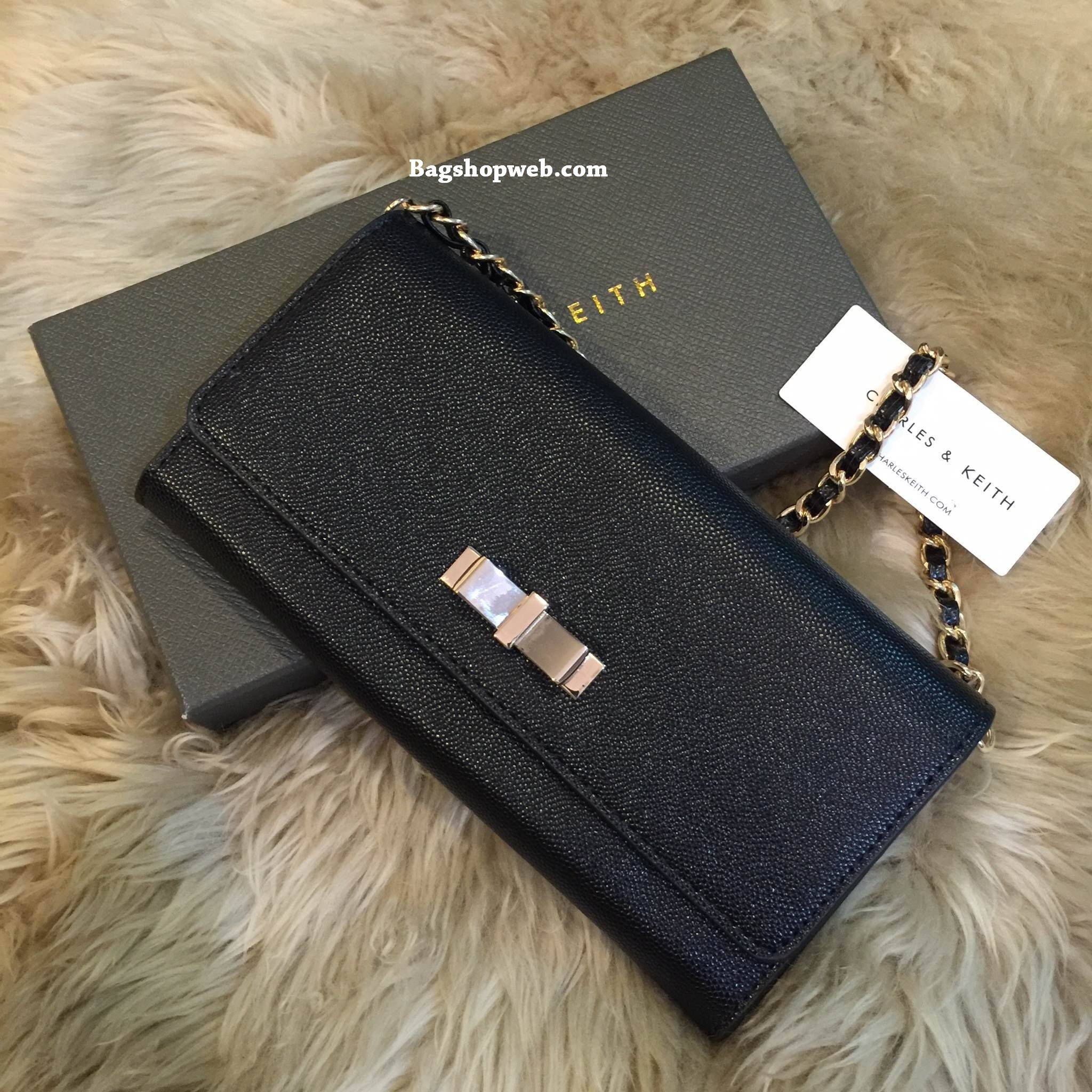 CHARLES & KEITH Ribbon DETAIL LONG WALLET