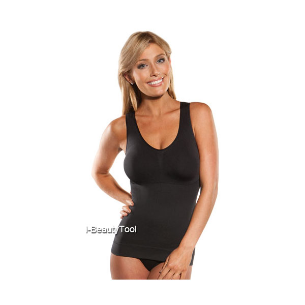 Cami Shaper เสื้อกระชับสัดส่วน พร้อมบราในตัว สีดำ