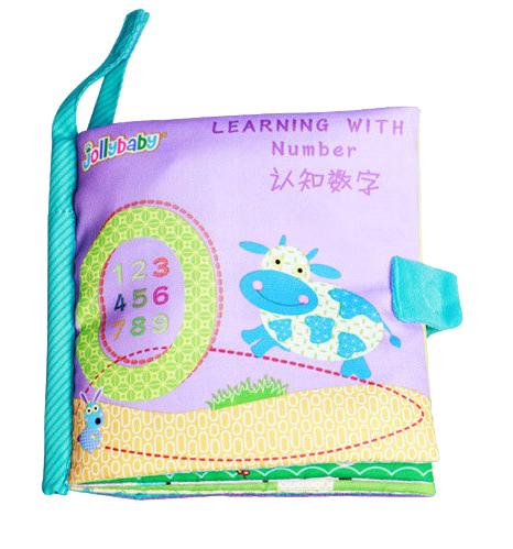 หนังสือผ้านับเลข 0-9 Learning with Number by Jollybaby