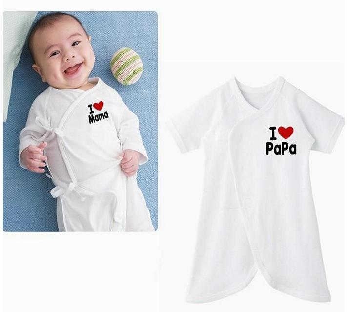 [แพค 2 ชุด] ชุดเด็กทารก I LOVE PAPA & MAMA