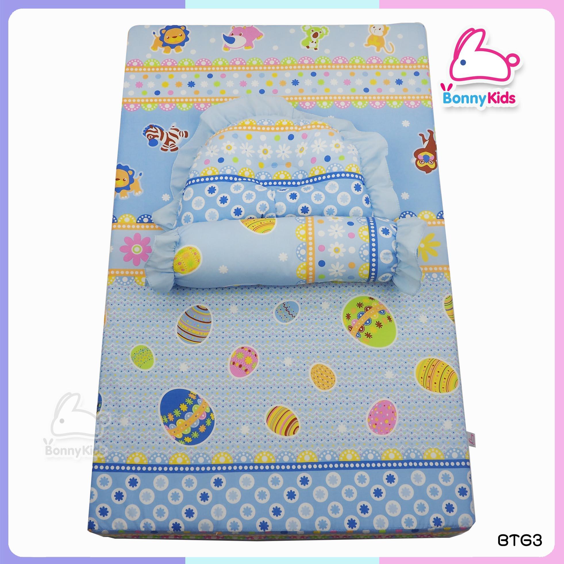 ที่นอนเด็กแรกเกิด หนา 3 นิ้ว ผ้า cotton กันไรฝุ่น ป้องกันภูมิแพ้
