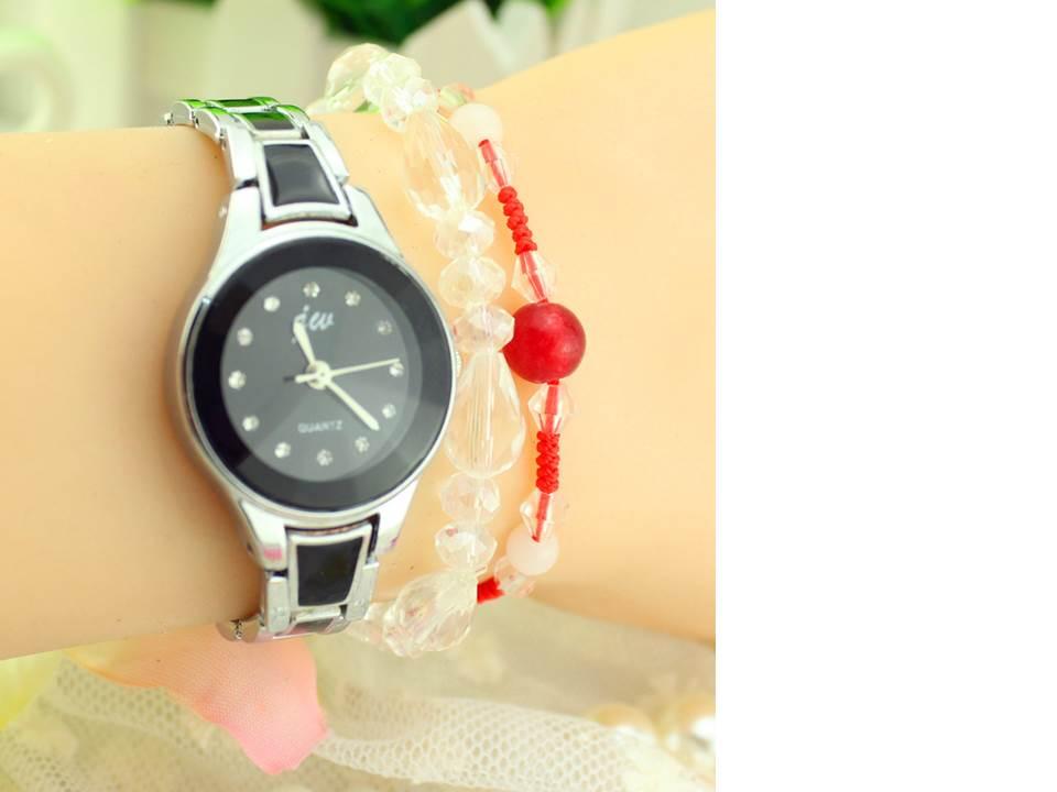 นาฬิกาแฟชั่น สีดำ(M3)