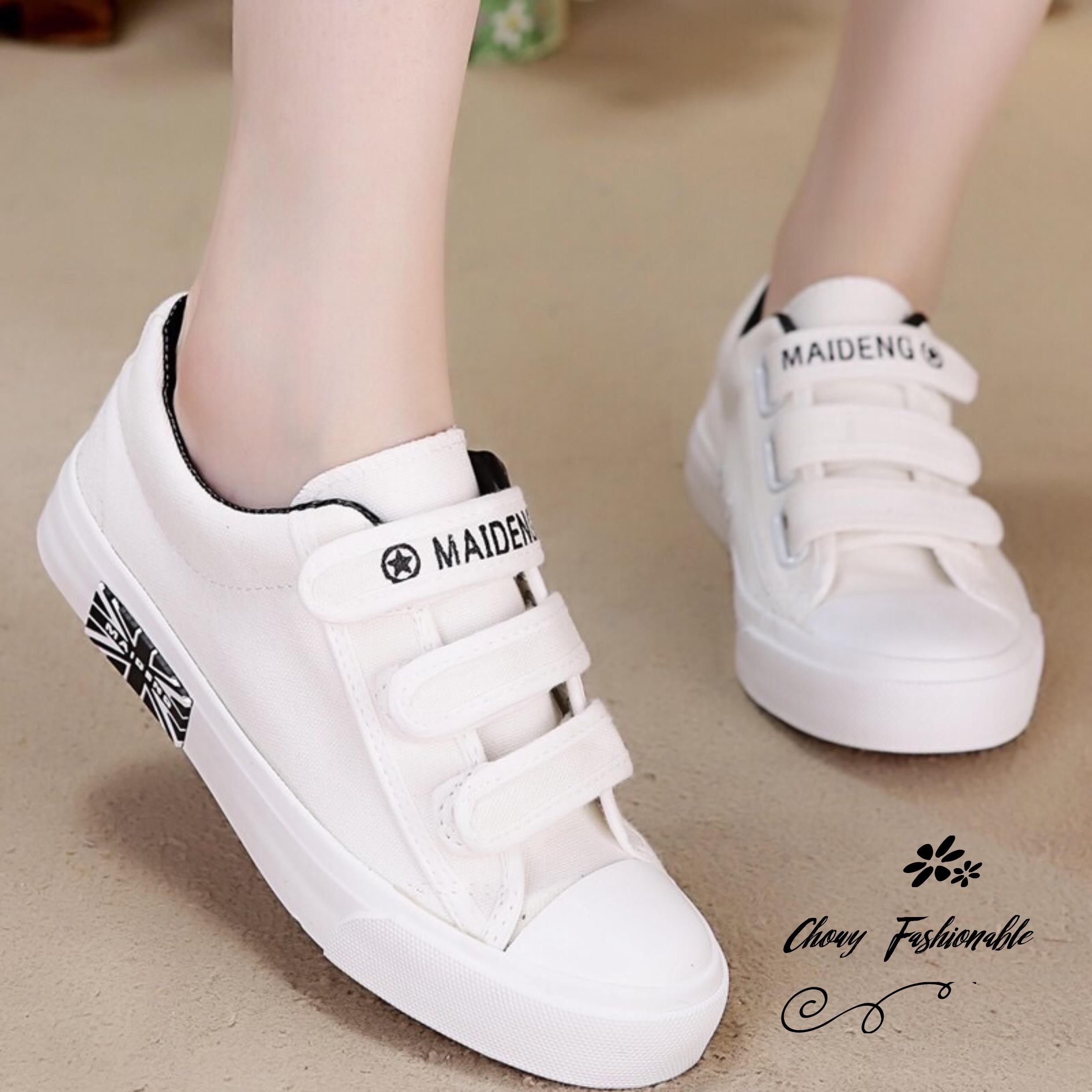 รองเท้าผ้าใบผู้หญิงไซส์ใหญ่ 41 สีขาว รุ่น KR0509