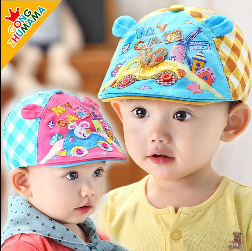 หมวกแก็ปเด็กเล็กมีหู ลายกระต่ายขับรถ สำหรับเด็ก 9 - 36 เดือน