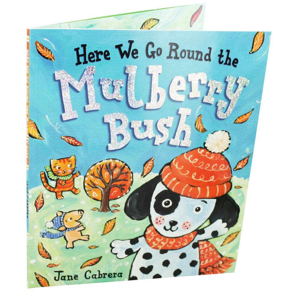 Here We Go Round the Mulberry Bush พวกเราวิ่งอยู่รอบพุ่มมัลเบอร์รี่ นิทานภาพ หนังสือภาพ หนังสือภาษาอังกฤษ
