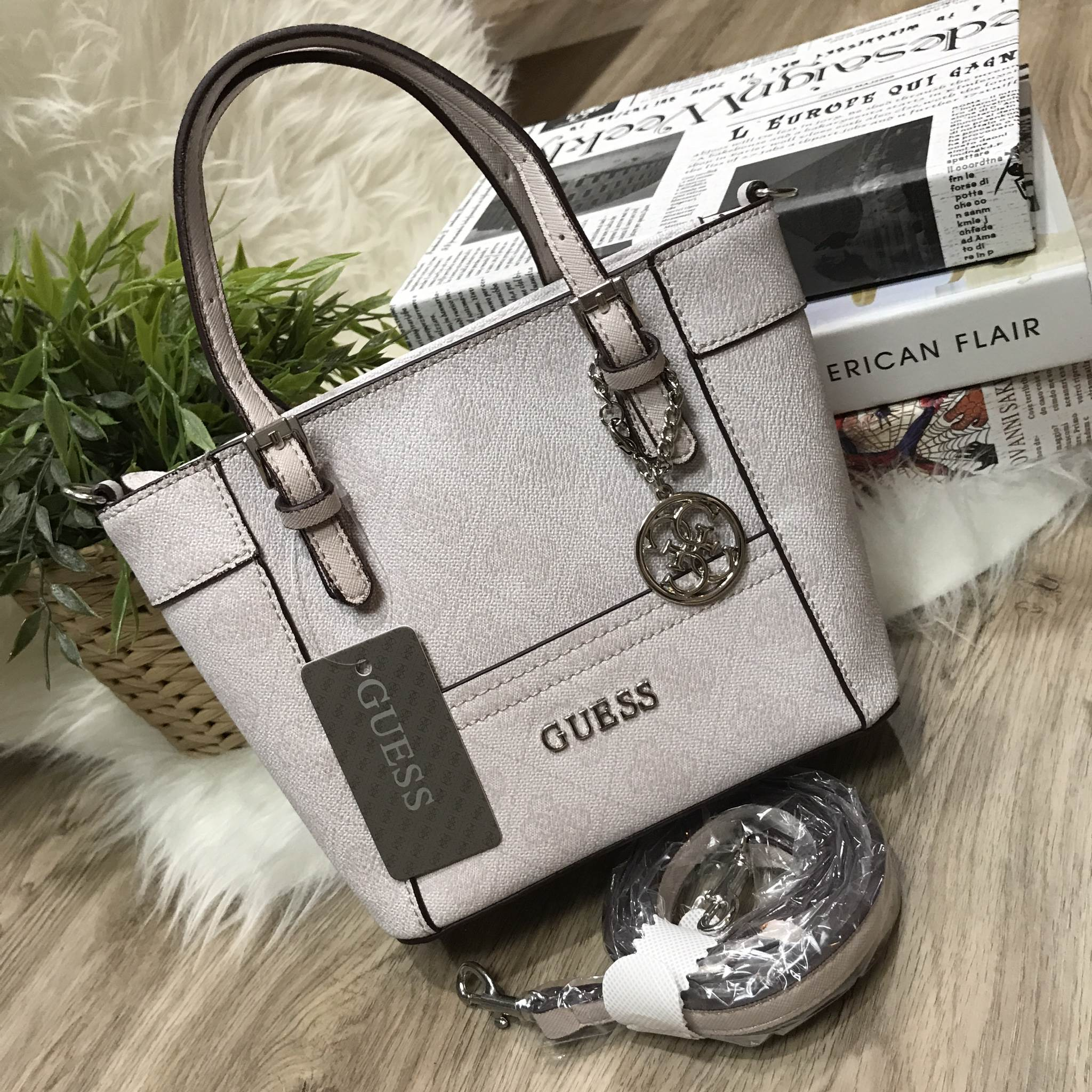 GUESS Mini Cross Body BAG 2017 Ivory Color