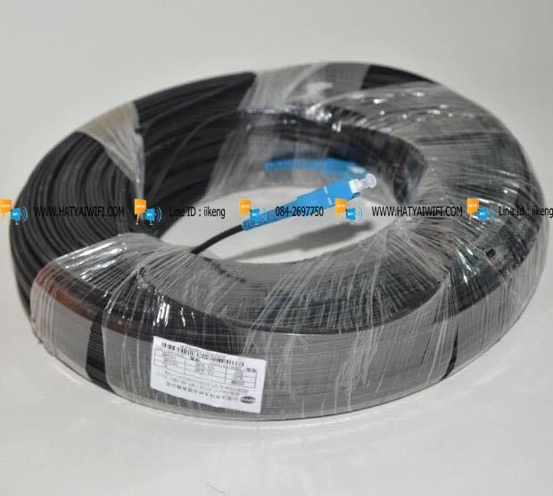 สาย Fiber Optic 1 Core พร้อมเข้า SC หัวท้าย ยาว 500 เมตร
