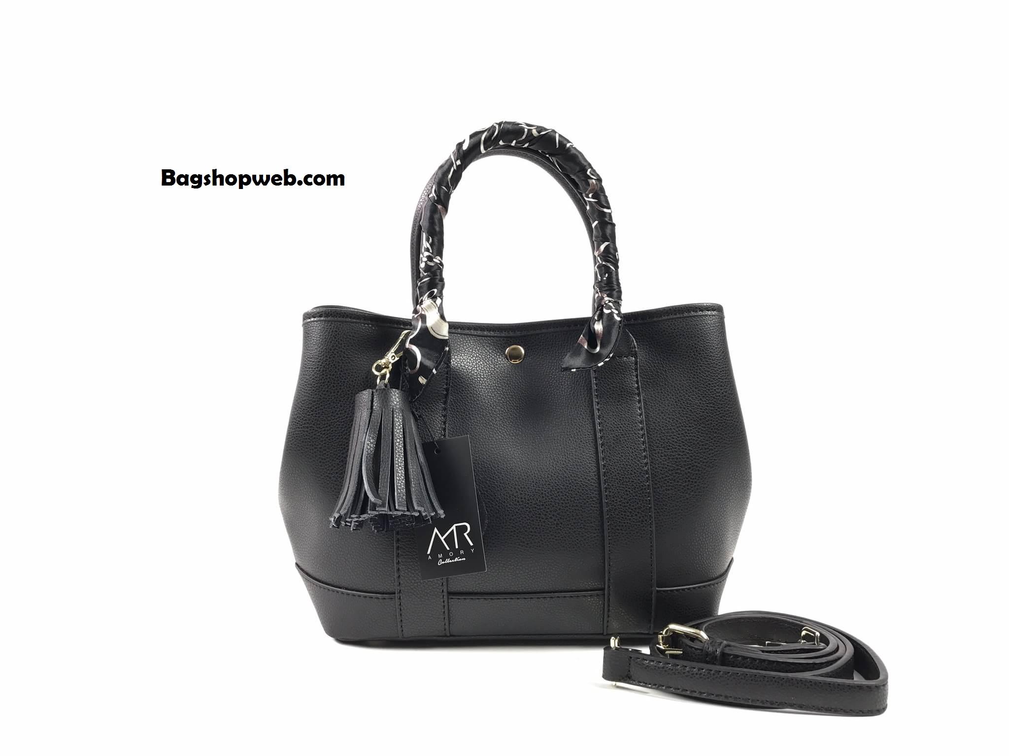กระเป๋า Amory Twilly bag กระเป๋าทรงถือ กระเป๋าหนังแท้ ทรงสุดฮอต สีดำ