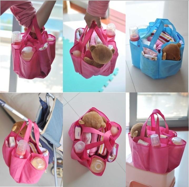 กระเป๋าช่องจัดระเบียบ แบ่งของใช้เด็ก แขวนรถเข็นคันเล็กได้