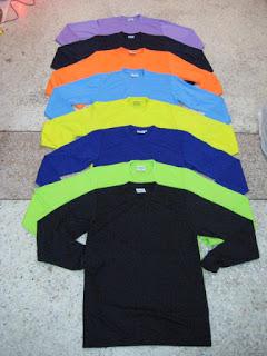 (ยี่ห้อRelate) เสื้อใช้แจกโฆษณา (คอกลม) แขนยาว สีล้วน-ตัดต่อสีแถบบ่า (ผู้ใหญ่)