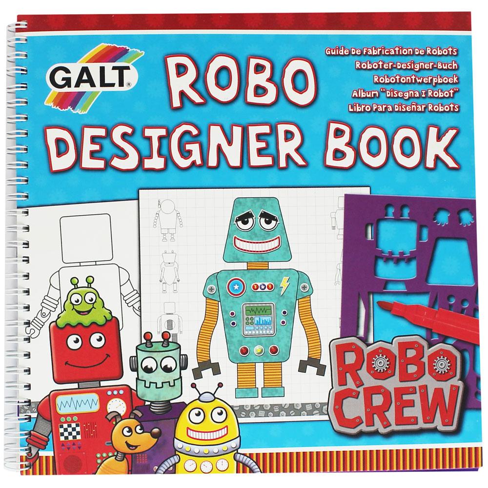 GALT : Robo Designer Book : Robo Crew หนังสือกิจกรรม สร้างหุ่นยนต์ แพคพร้อมอุปกรณ์ตกแต่ง