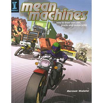 Mean Machines หนังสือหัดวาดรูป รถยนต์ มอเตอร์ไซค์