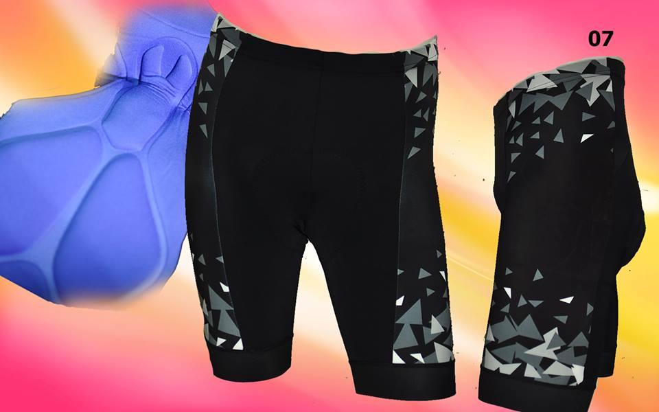 กางเกงปั่นจักรยานขาสั้น INBIKE (สีเทาดำ)