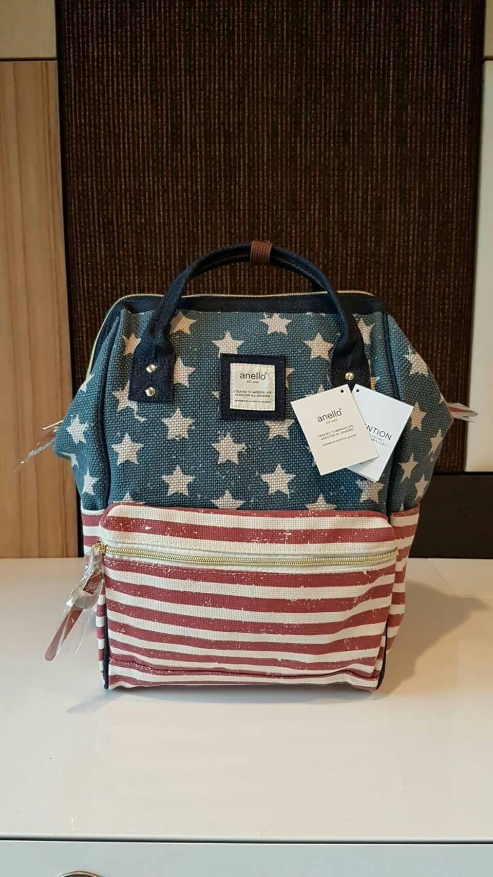 กระเป๋า Anello USA Classic CANVAS Rucksack (STD) วัสดุ CANVAS Fabric เนื้อหนานิ่มคุณภาพดี ออกเเบบลาย Limited สวยเก๋ไม่เหมือนใคร