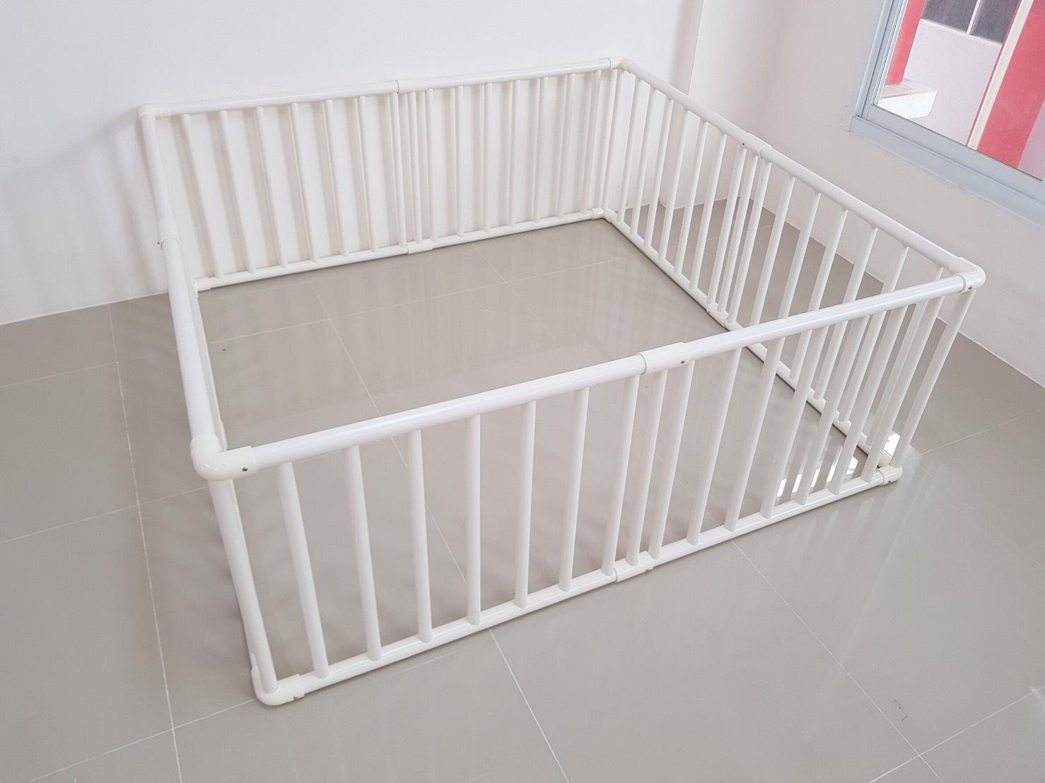คอกกั้นเด็ก PVC ขนาด 150x150 cm ไม่มีประตู