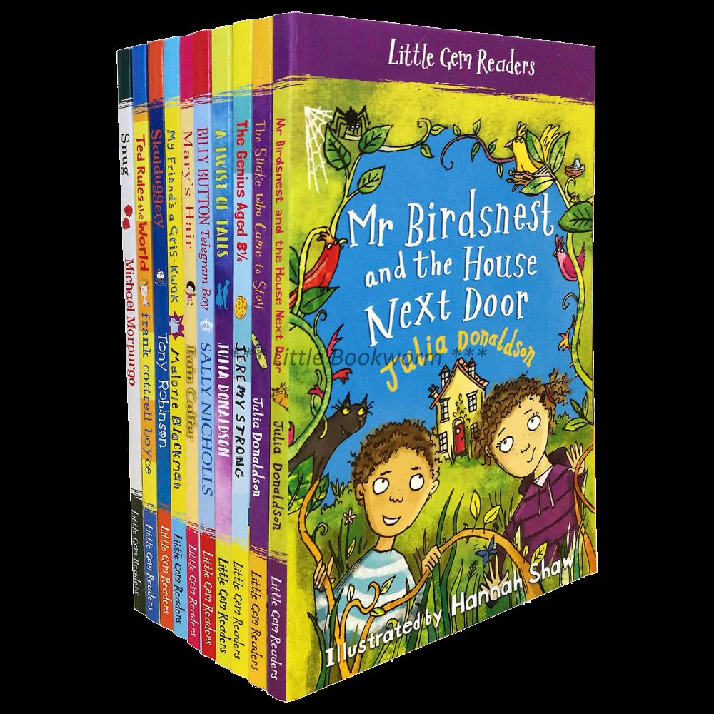 Little GEM Readers :10 Books Collection : Julia Donaldson Jeremy Strong Michael Morpurgo หนังสือส่งเสริมการอ่านภาษาอังกฤษ นักเขียนชื่อดัง