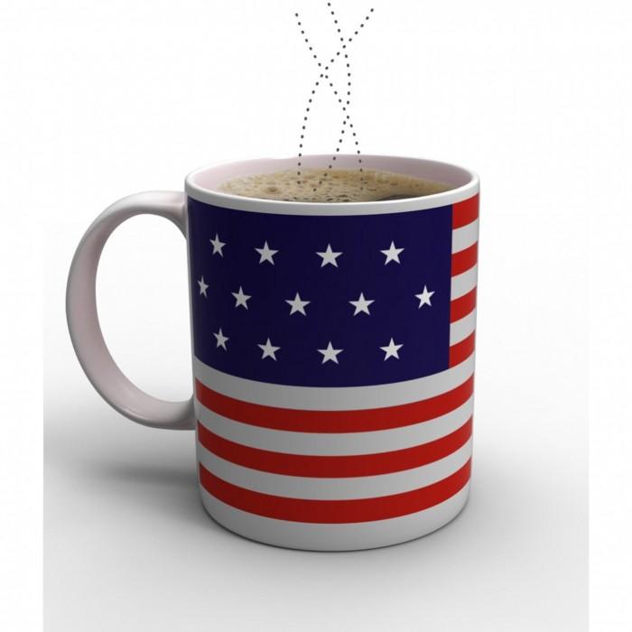 แก้วเปลี่ยนภาพตามอุณหภูมิ ลายธงชาติอเมริกา < พร้อมส่ง >