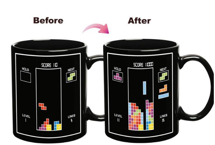 แก้วน้ำ tetris เปลี่ยนภาพตามอุณหภูมิ <พร้อมส่ง>