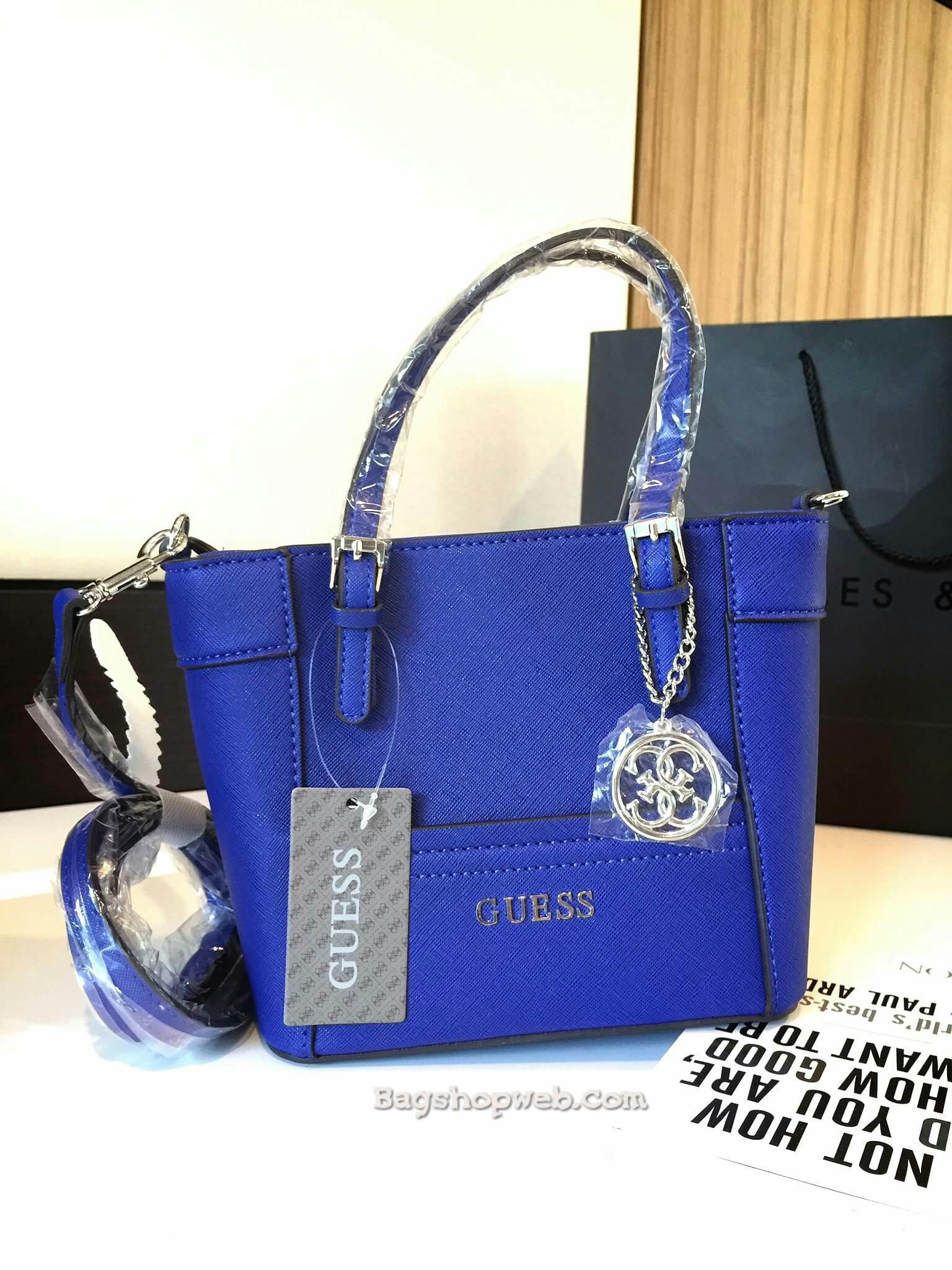 กระเป๋า GUESS SAFFIANO MINI CROSS BODY BAG 2016 ฟรี ems