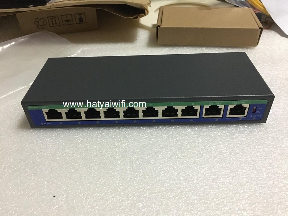 POE Switch 8+2 /100 802.3 AF/AT ( ไม่รวม Adapter )