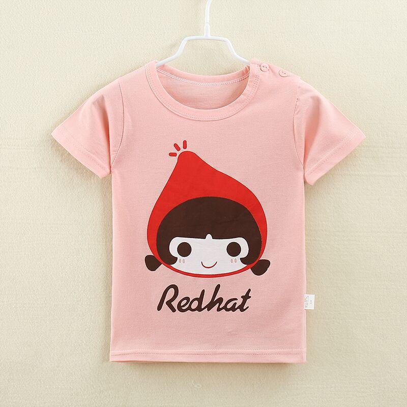เสื้อยืดเด็กเล็ก Redhat มีกระดุมข้างคอ สำหรับเด็กวัย 1-4 ปี