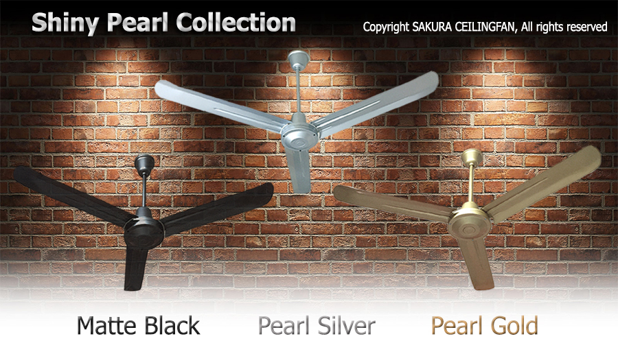Sakura ceiling fan new model with shiny pearl color