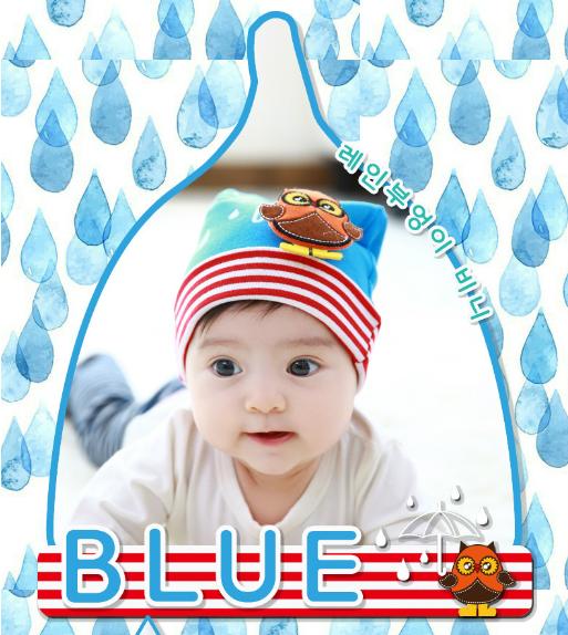 HT192••หมวกเด็ก•• / [สีฟ้า] นกฮูก