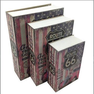 ตู้เซฟหนังสือ ลายหนังสือ Route 66