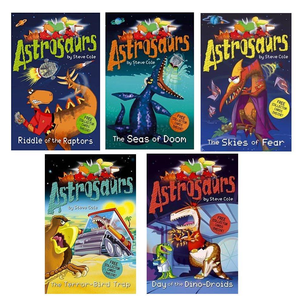 Astrosaurs Collection 5 Books Collection + Collector cards : Steve Cole: วรรณกรรมเยาวชน ภาษาอังกฤษ แอสโทรซอร์ 5 เล่ม