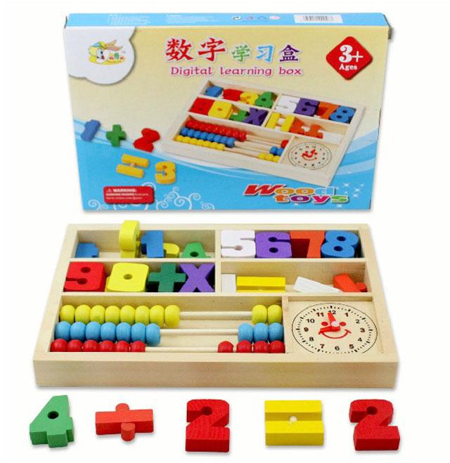 ของเล่นไม้ลูกคิด เรียนรู้ตัวเลข การนับ บวกลบจำนวน และการบอกเวลา