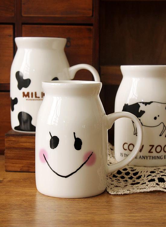 แก้วเซรามิคทรงถังนม < พร้อมส่ง >