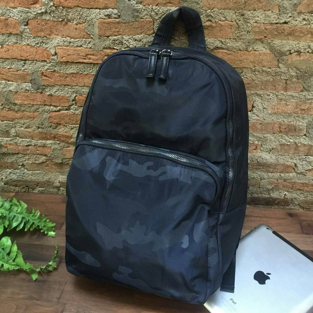 Zara Men Camouflage Size L Backpack New Collection 2018