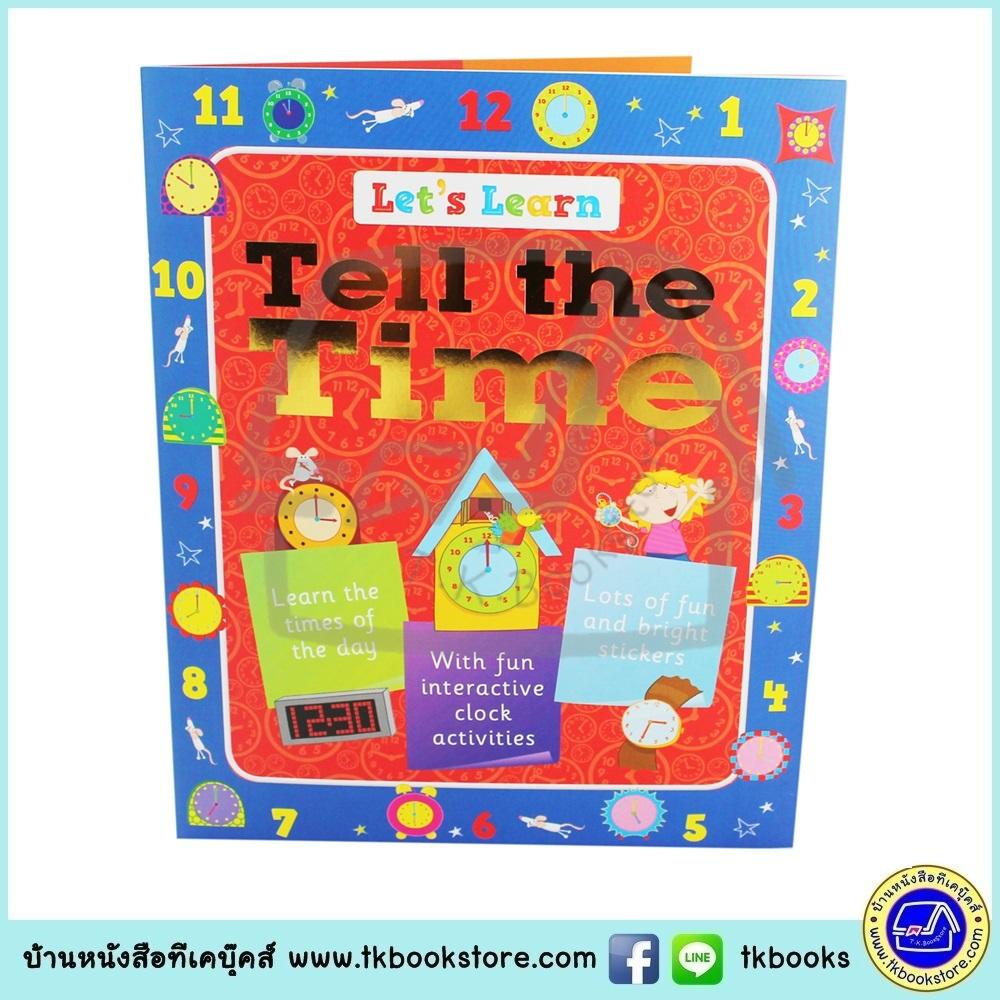 Let's Learn : Tell the Time หนังสือสอนเรื่องการบอกเวลา พร้อมสติกเกอร์