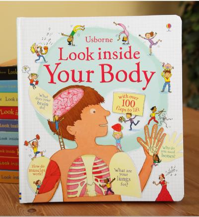 หนังสือบอร์ดบุ๊คเปิดสนุก Flap book Look inside your body by Usborne