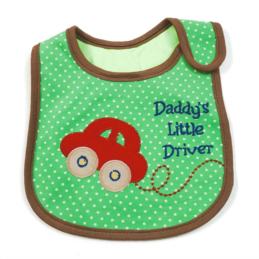 ผ้ากันเปื้อน ลายรถเก๋งสีส้ม Daddy 's Little Driver