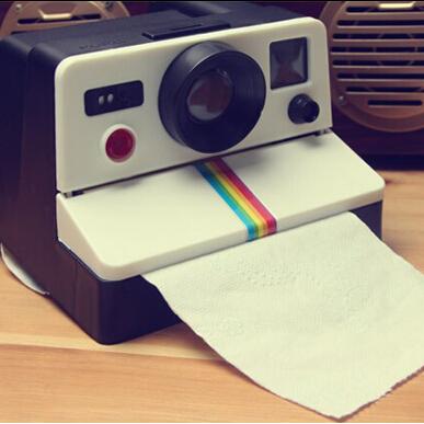 กล่องใส่ทิชชู่กล้อง Polaroid < พร้อมส่ง >