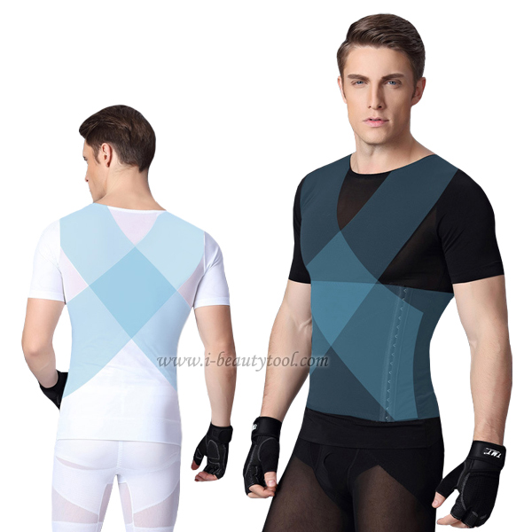 ชุดกระชับสัดส่วนชาย เสื้อเก็บพุง เก็บอก แขนสั้น รุ่น X-Clusive